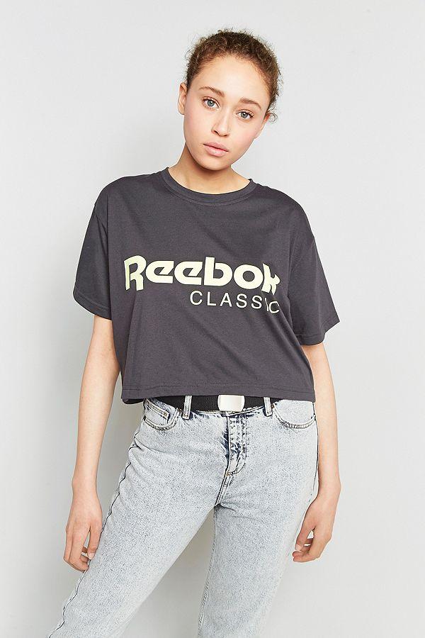 48816612311 Reebok Classic Logo Cropped T-Shirt