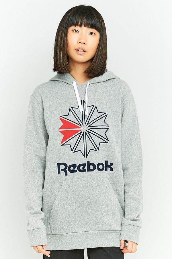 70b153a04e Reebok Classic Logo Grey Hoodie