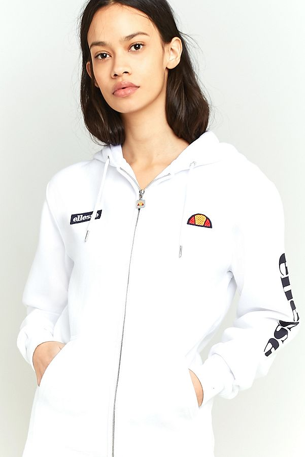 new high official store buying new Ellesse - Sweat à capuche Serinatas blanc