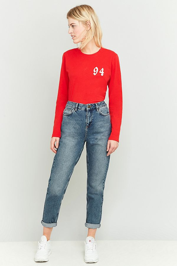 4033480fdbf BDG Vintage Dark Blue Mom Jeans | Urban Outfitters UK