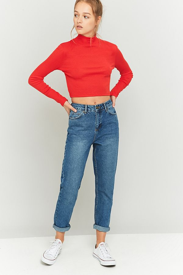 e7b24ae29604dd BDG Dark Vintage Wash Mom Jeans | Urban Outfitters UK