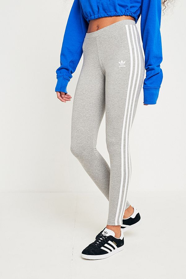 9bccafae7013b7 adidas Originals 3-Stripe Grey Leggings | Urban Outfitters UK