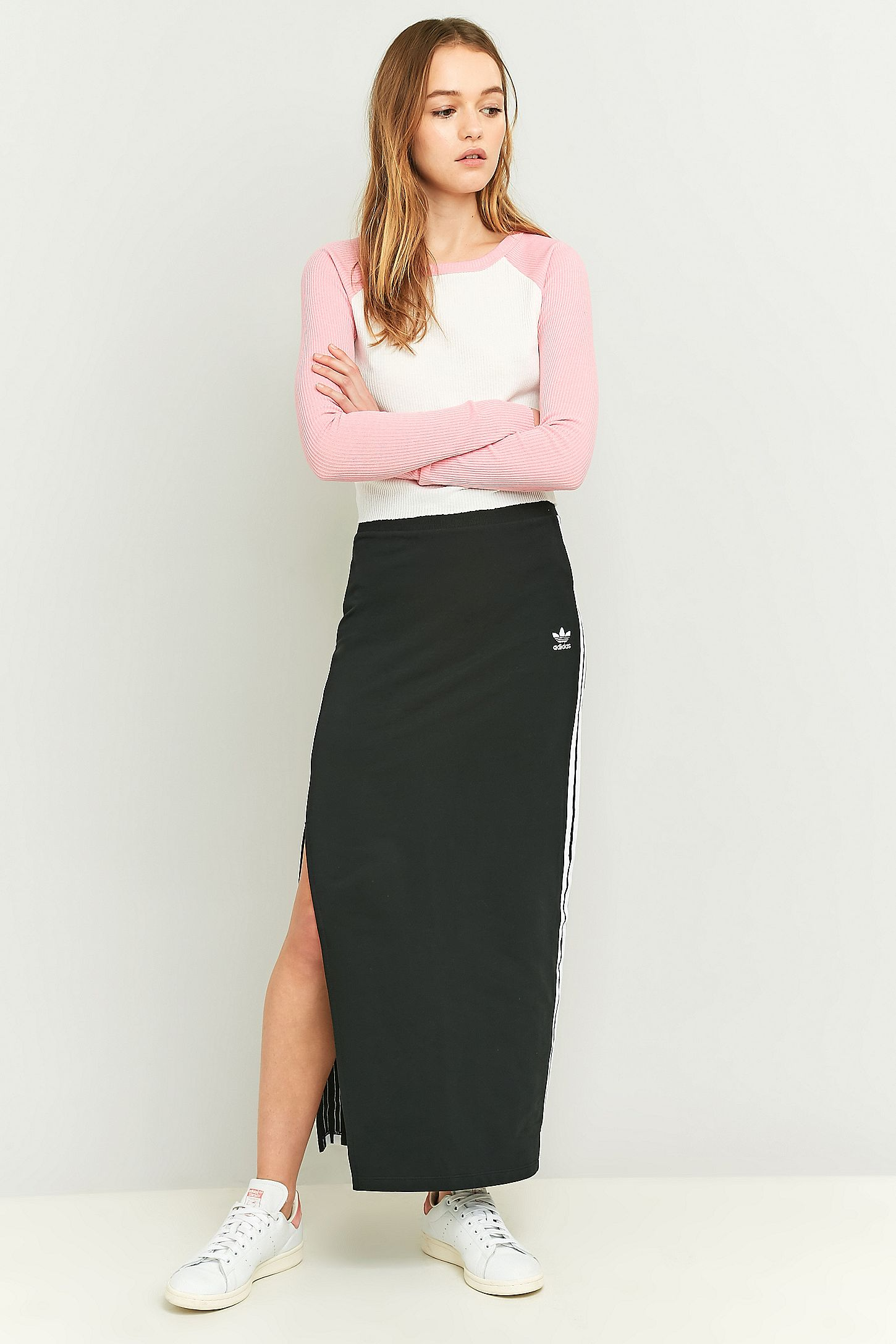 36a0989c33b adidas Originals 3 Stripe Black Maxi Skirt. Click on image to zoom. Hover  to zoom. Double Tap to Zoom