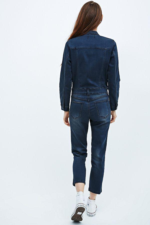 6a46005c315e Slide View  4  Courtshop Bailey Denim Boiler Suit in Blue