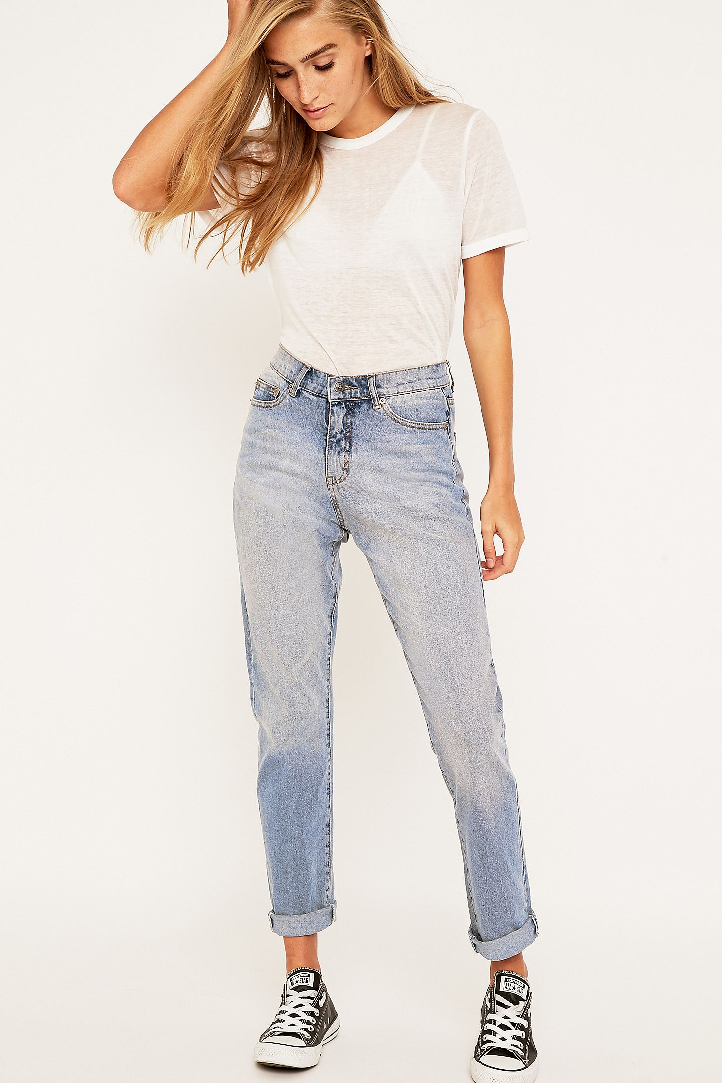 8c8e064fd58ae Cheap Monday Donna Mid Blue Straight Leg Jeans. Click on image to zoom.  Hover to zoom. Double Tap to Zoom
