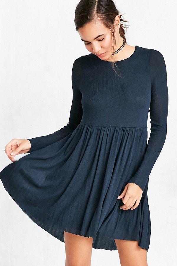 qualité stable style exquis double coupon Kimchi Blue - Mini robe babydoll Vidal confortable à manches longues