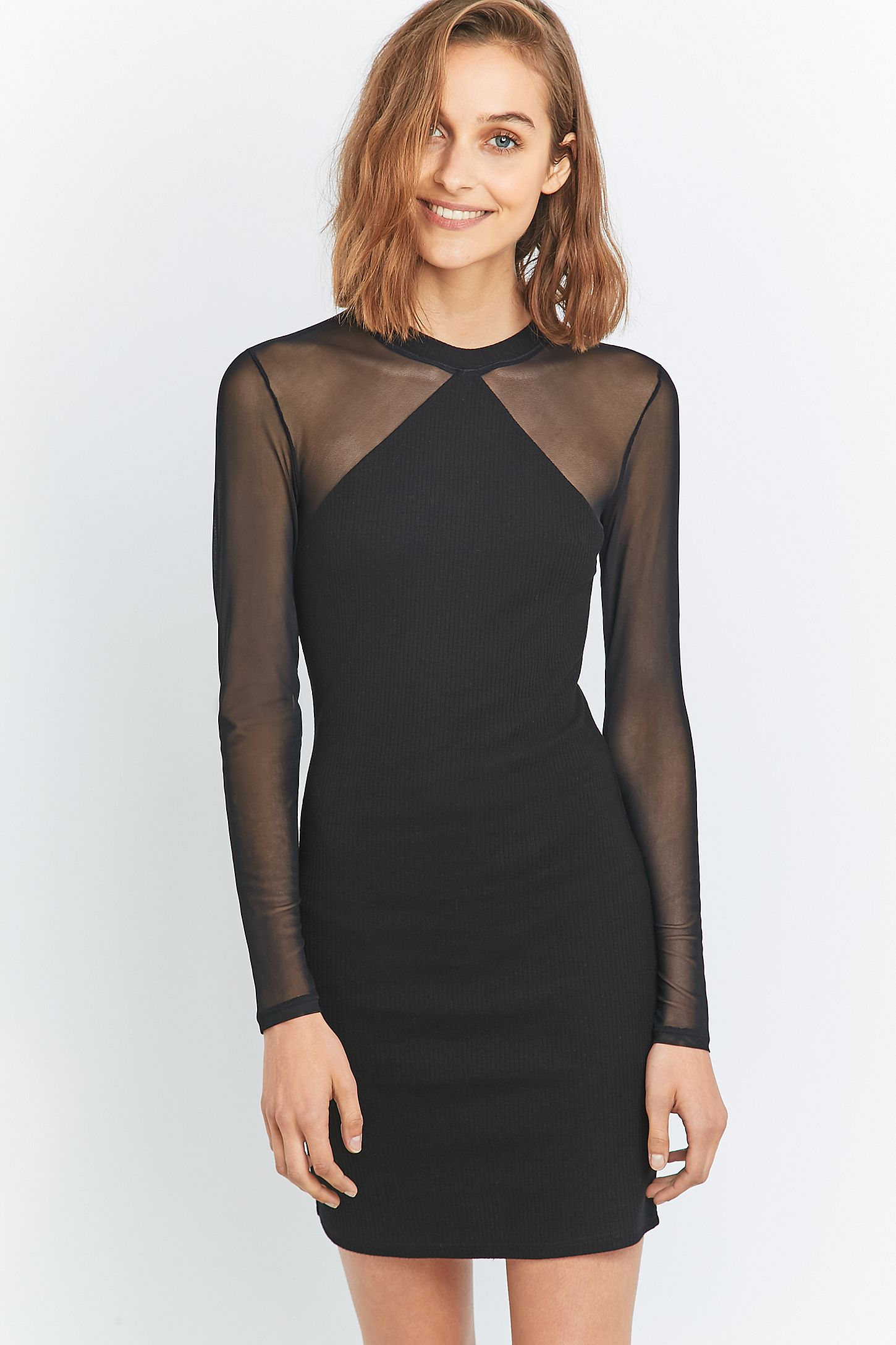 71d2f0218c Sparkle   Fade Black Mesh and Jersey Bodycon Dress