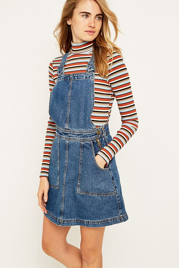 70972db3b6 Urban Outfitters Blue Denim Dungaree Dress | Urban Outfitters UK