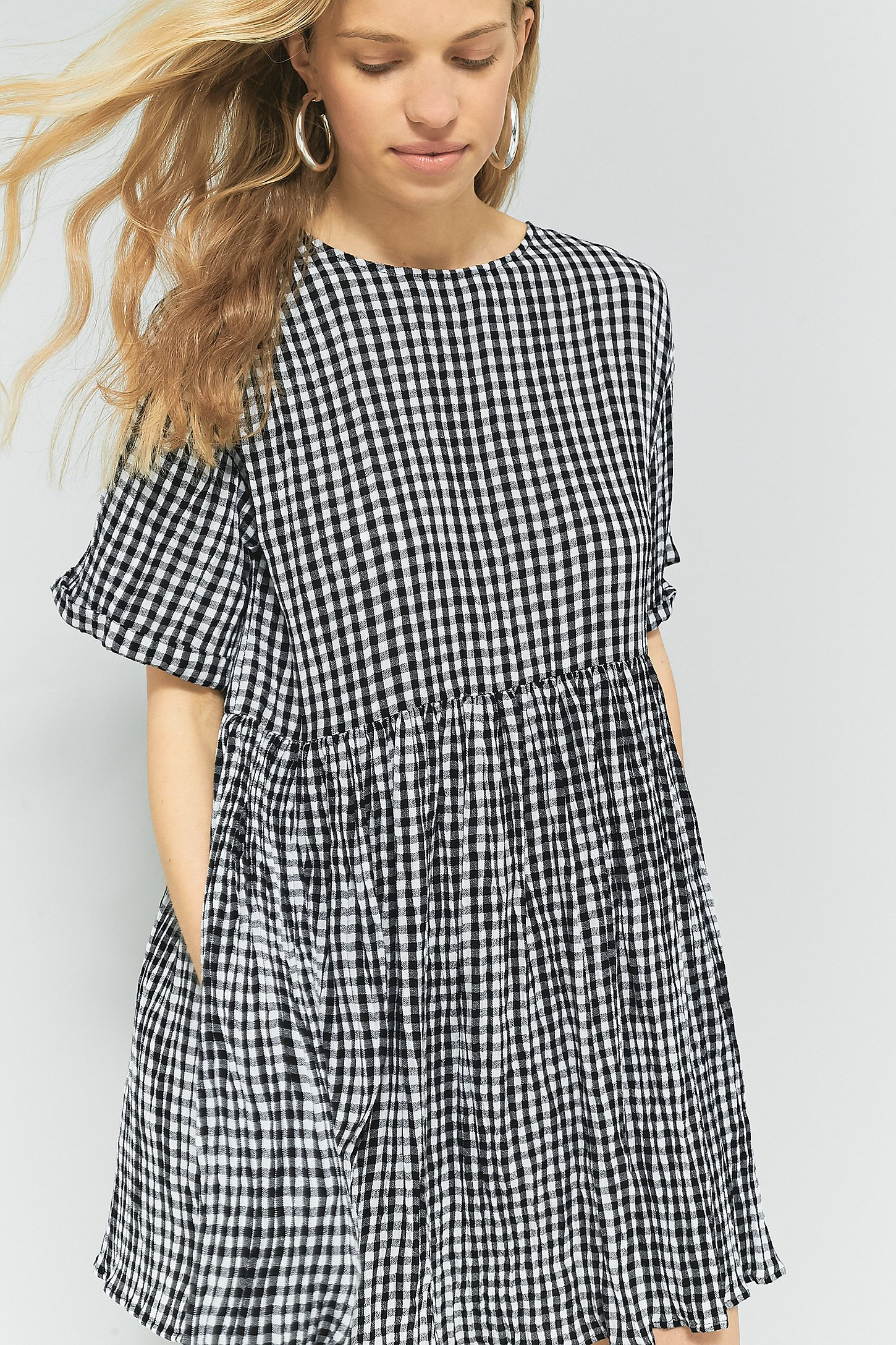 dd7cfb060aeb Pins   Needles Gingham Babydoll Dress