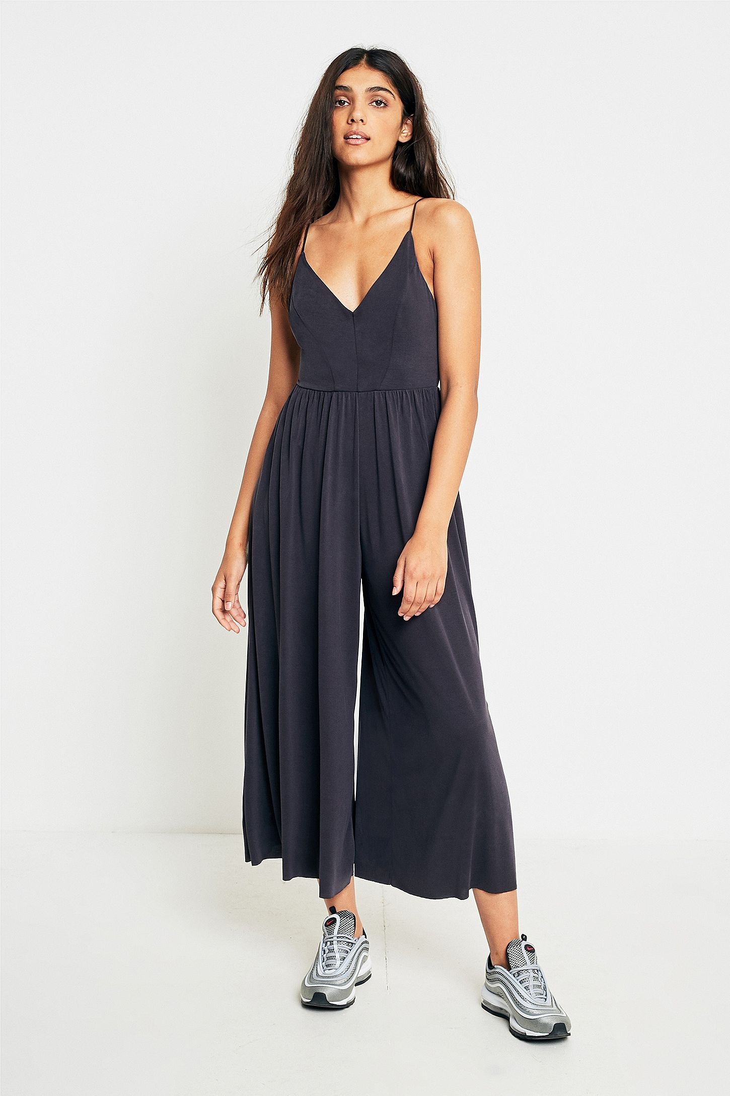 cec30543efb8 Silence + Noise Molly Cupro Culottes Jumpsuit