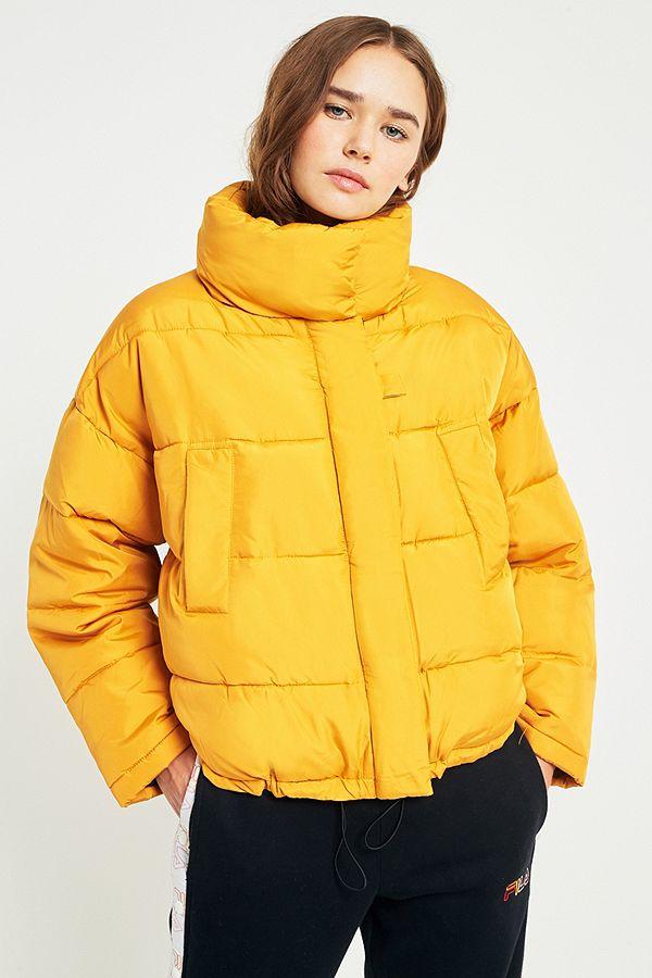 5b396ae76fe06 Light Before Dark Yellow Pillow Puffer Jacket | Urban Outfitters UK