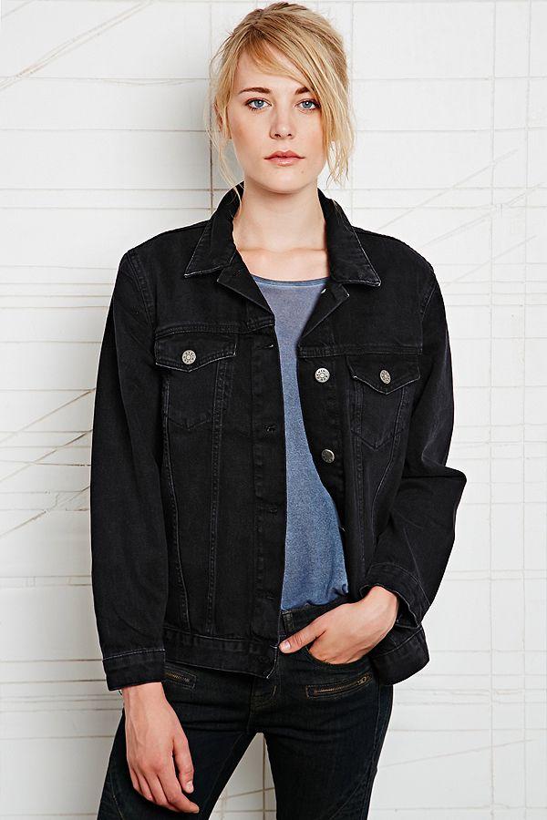 27414c824 BDG Oversized Denim Jacket in Black   Urban Outfitters UK