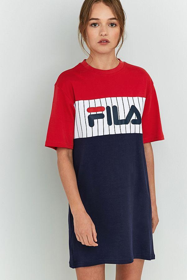 delicate colors best sneakers exquisite craftsmanship FILA Ruby T-Shirt Dress