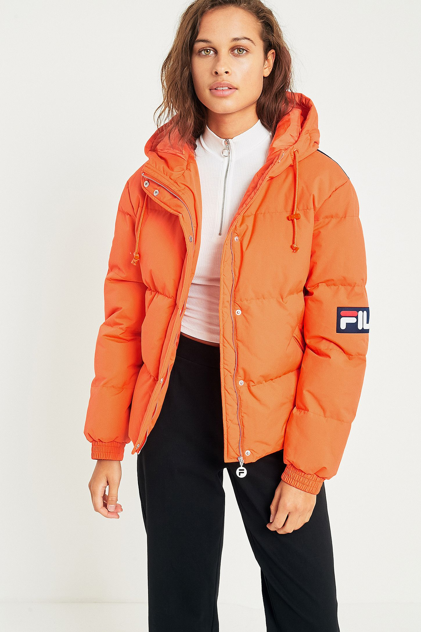 904a6cfb43cd FILA Orange Puffer Jacket