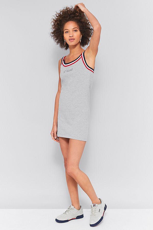 34fc7f1491e FILA Festival Grey Striped Slip Dress
