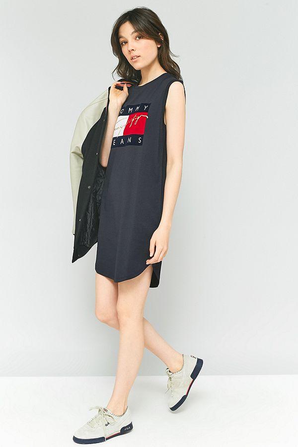 f4ddb540 Tommy Hilfiger '90s Tank T-Shirt Dress | Urban Outfitters UK