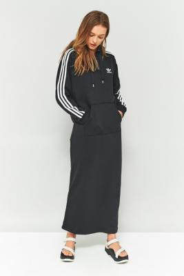70f701dc83 adidas Originals 3-Stripe Hoodie Maxi Dress