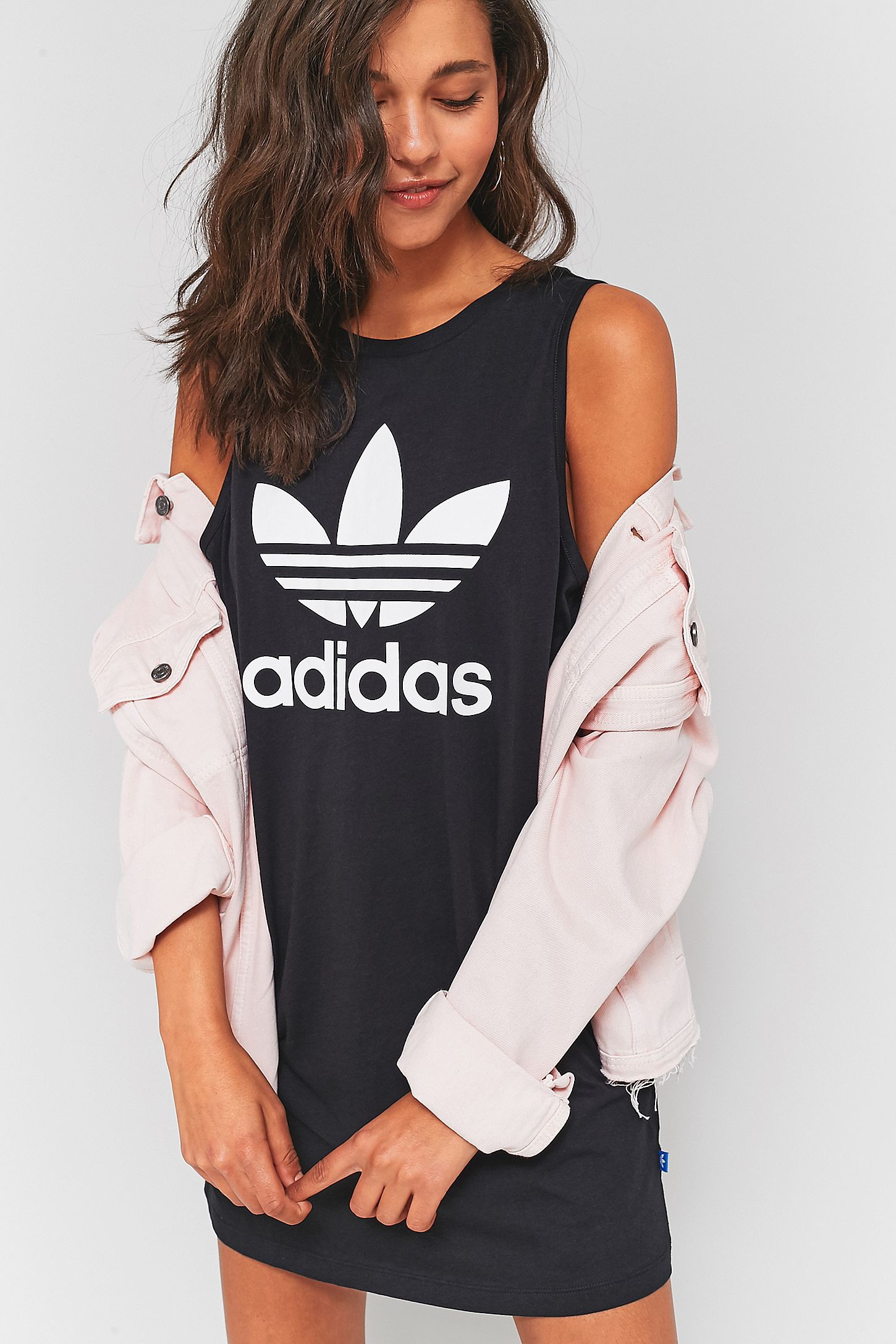 dad72c4b0c551 adidas Originals Trefoil Tank Dress. Click on image to zoom. Hover to zoom.  Double Tap to Zoom