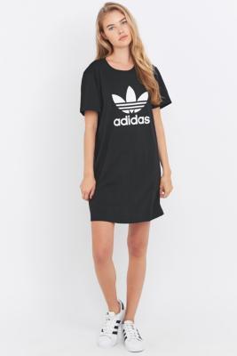 black adidas t shirt dress