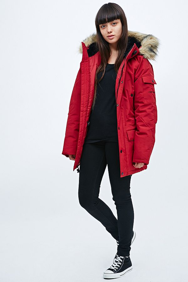 uk availability elegant shoes aliexpress Carhartt Anchorage Parka in Red | Urban Outfitters UK