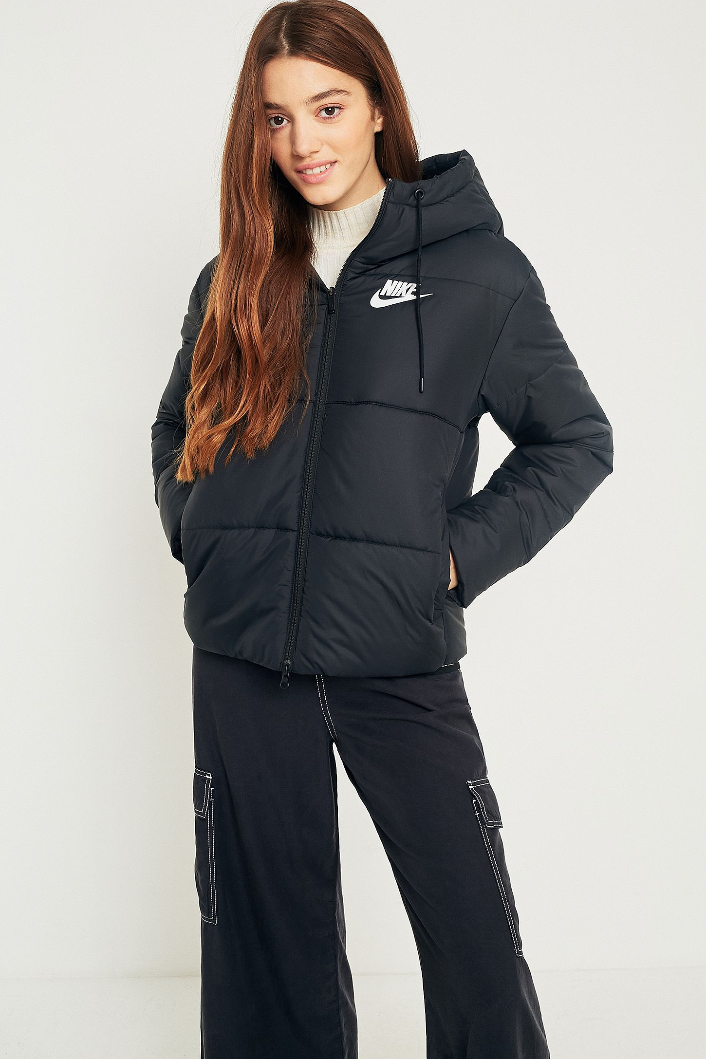 5c5650717fe9 Nike Black Quilted Puffer Jacket