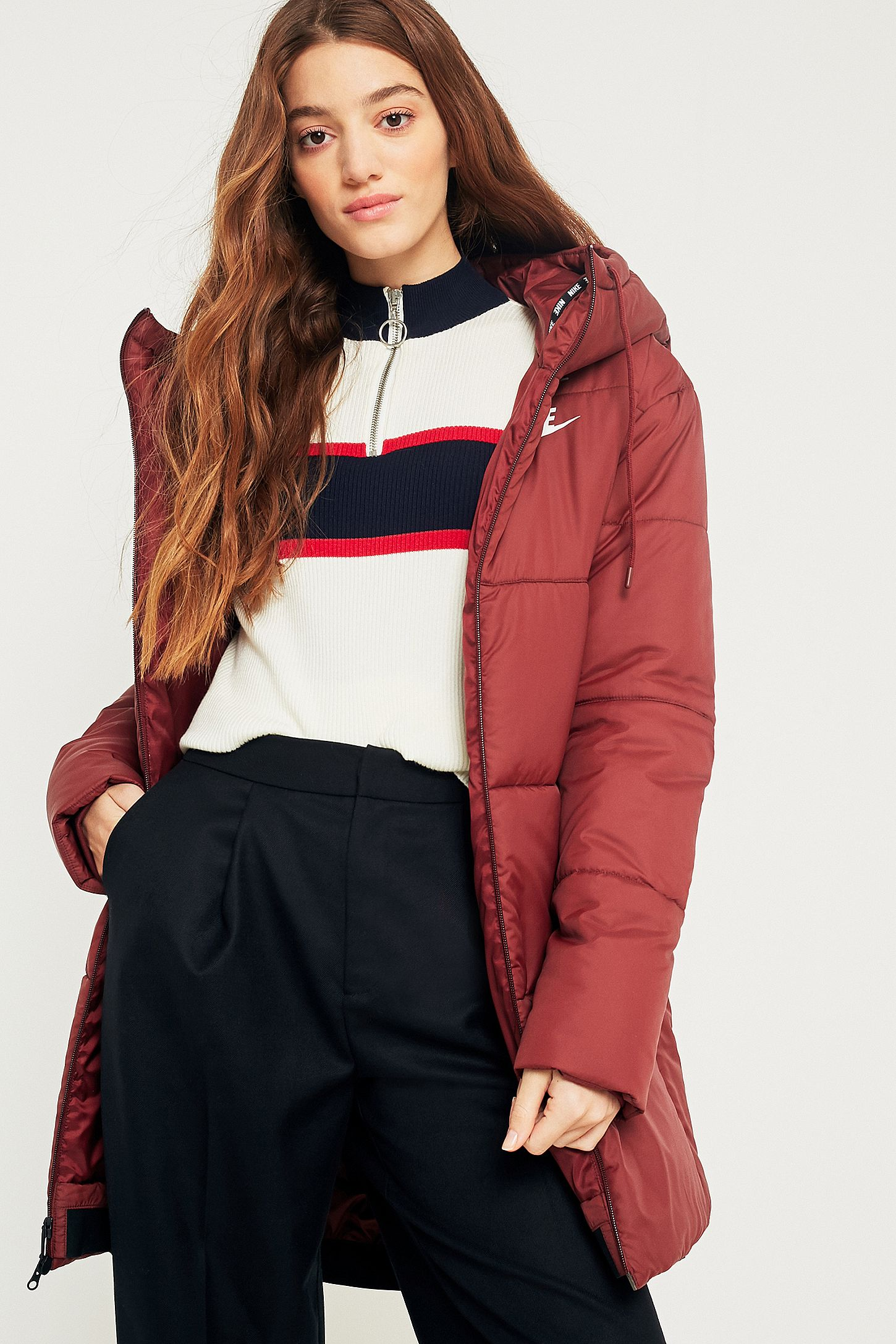 78b5d374895a Nike Sportswear Advance 15 Red Puffer Coat