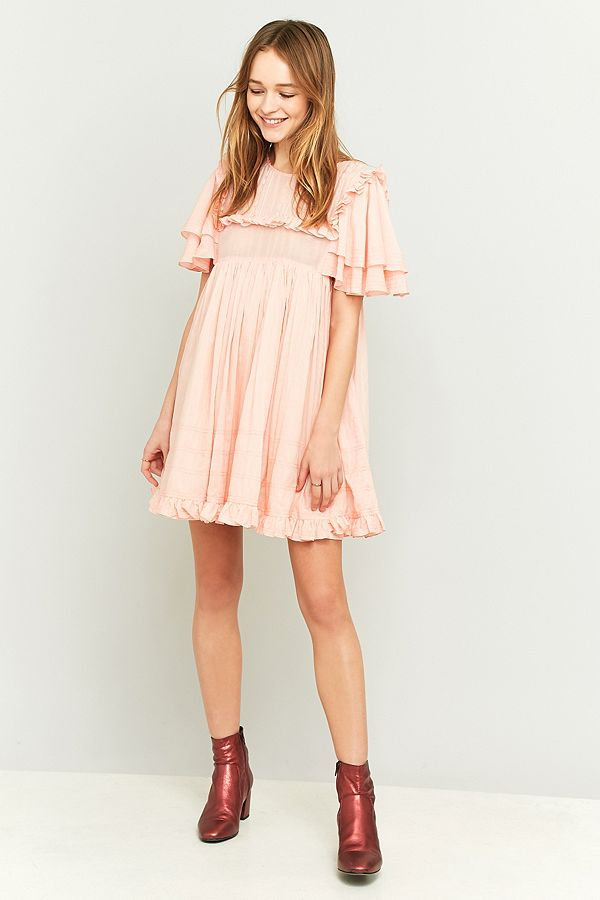 0a55c98d556d Manoush Pink Ruffle Babydoll Dress | Urban Outfitters UK