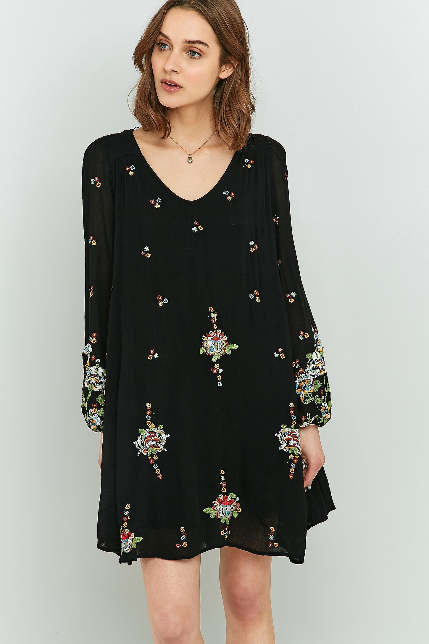 7246fb504f1f Free People Oxford Embroidered Mini Dress. Click on image to zoom. Hover to  zoom. Double Tap to Zoom