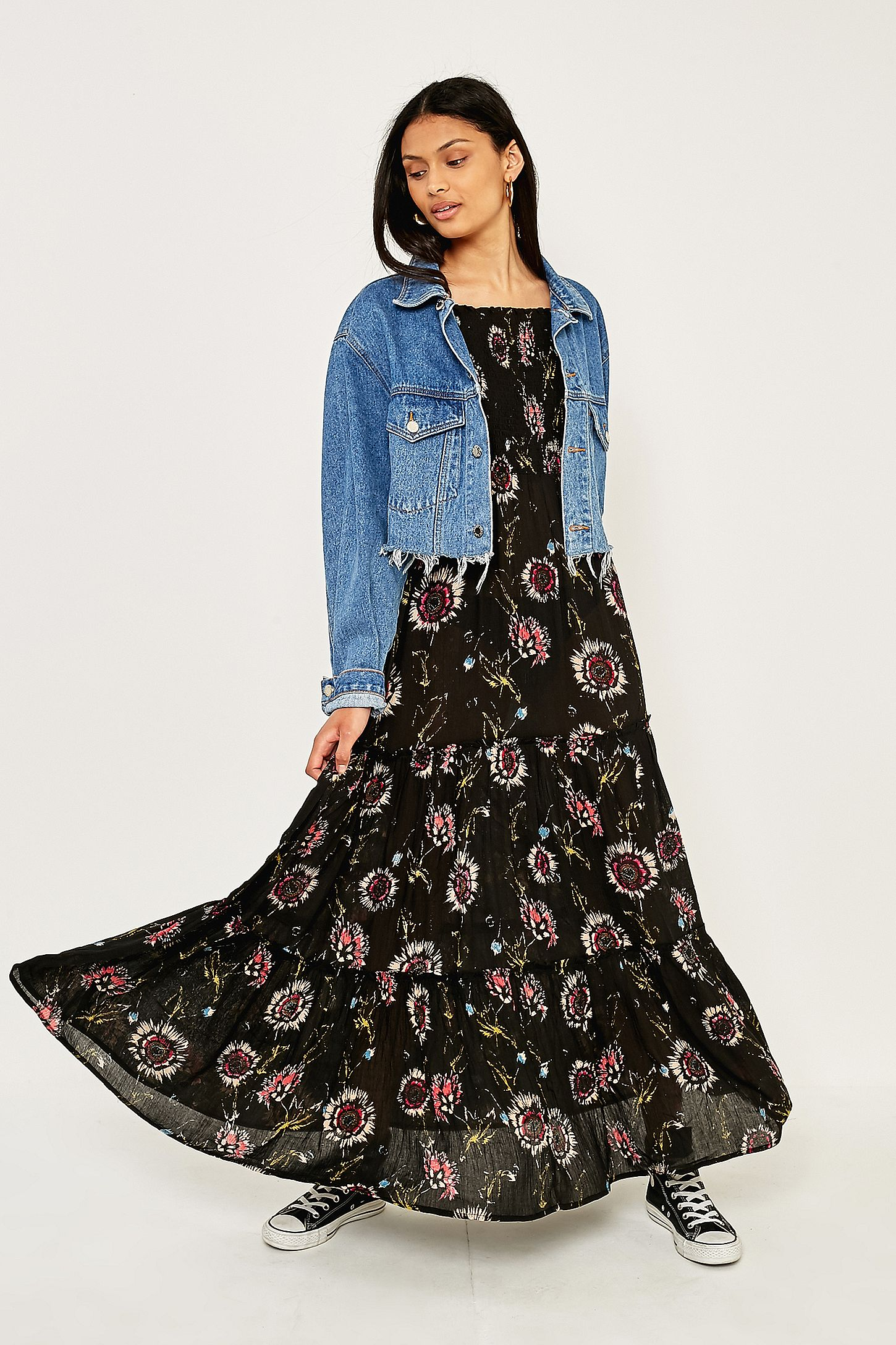 edebaf050e1 Free People Garden Party Floral Maxi Dress. Click on image to zoom. Hover  to zoom. Double Tap to Zoom