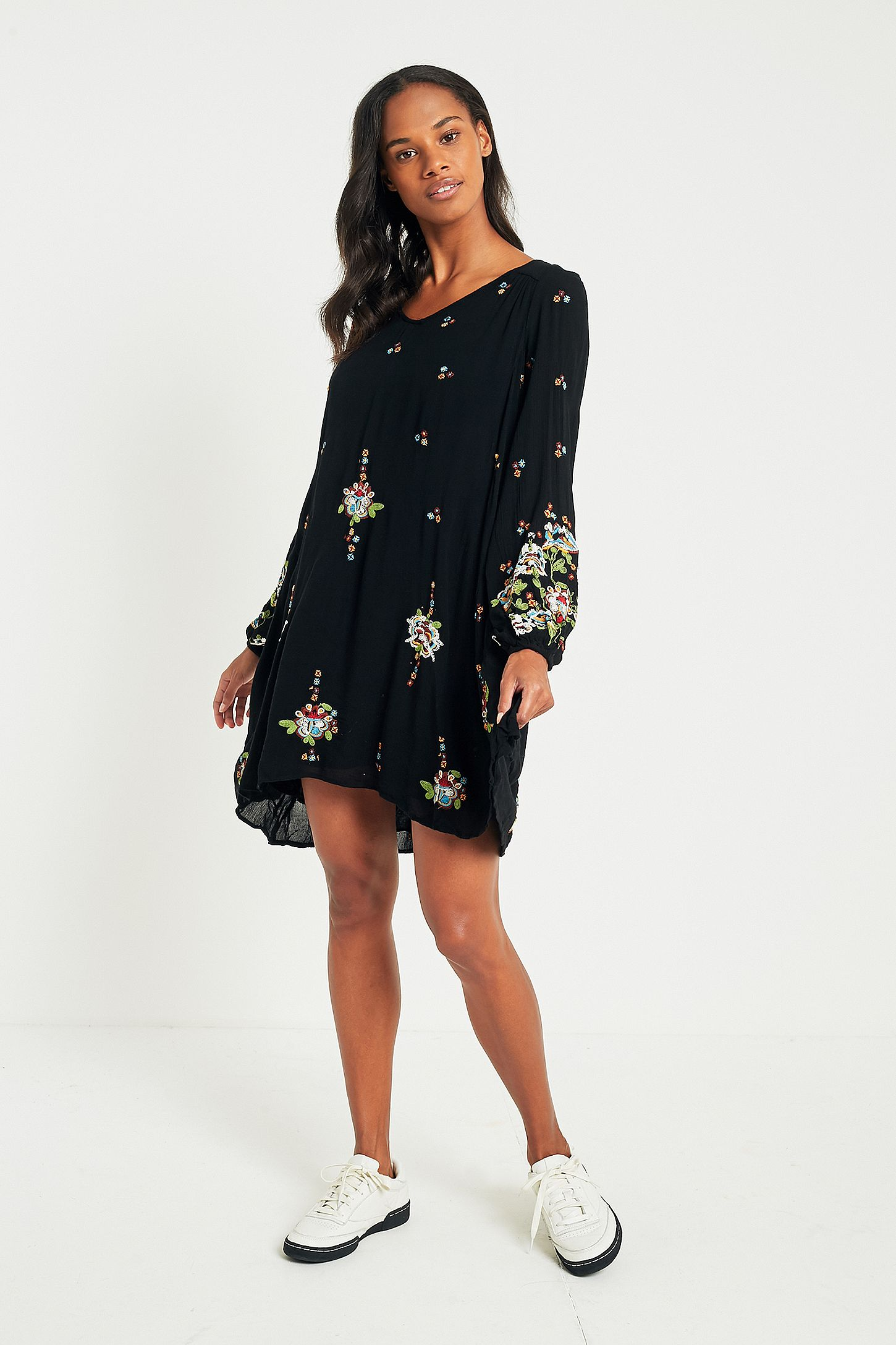 6e0a2d6660b04 Free People Oxford Floral Embroidered Mini Dress. Click on image to zoom.  Hover to zoom. Double Tap to Zoom