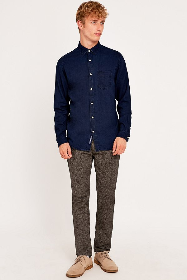 huge discount d3c73 808b9 Selected Homme One Low Blue Indigo Shirt | Urban Outfitters UK