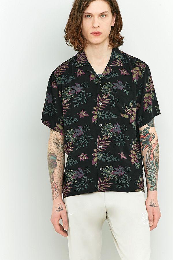 61d7e266 Loom Dark Floral Short-Sleeve Shirt