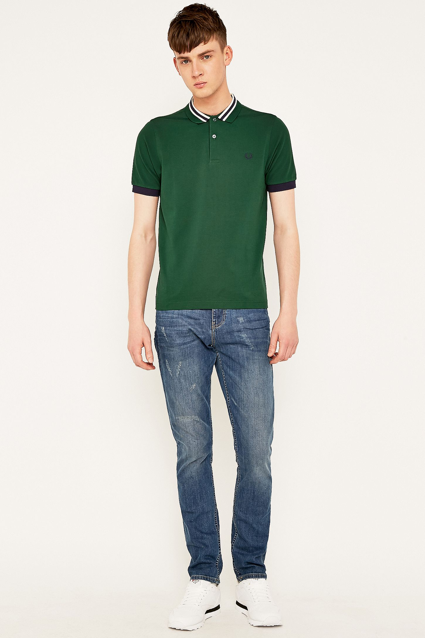 2cc85012 Fred Perry Ivy Bomber Stripe Polo Shirt. Click on image to zoom. Hover to  zoom. Double Tap to Zoom