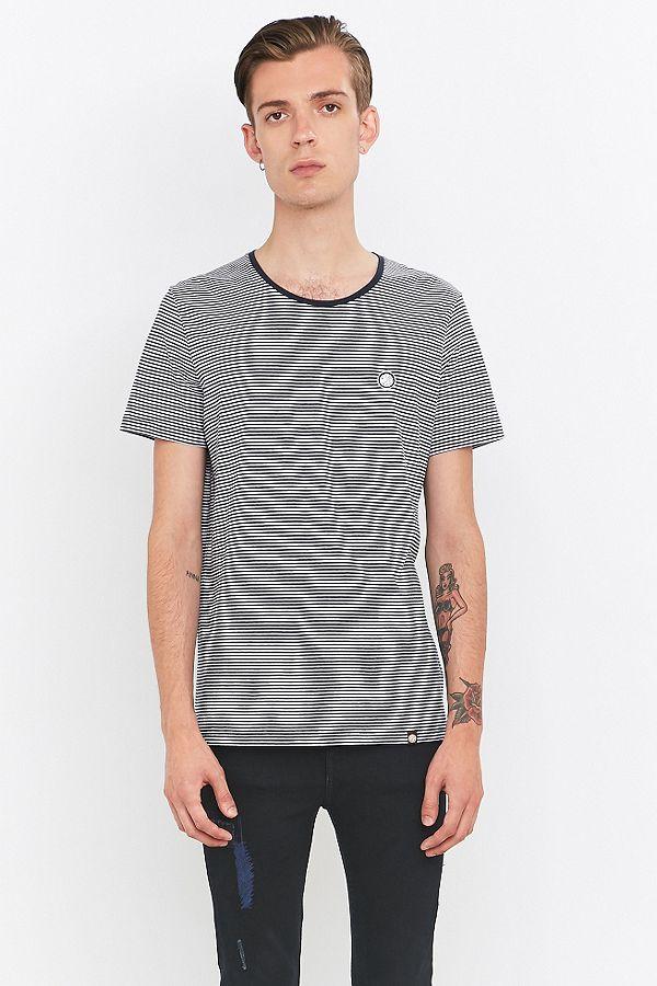 607b2c83da Pretty Green Feeder Navy Striped T-shirt | Urban Outfitters UK