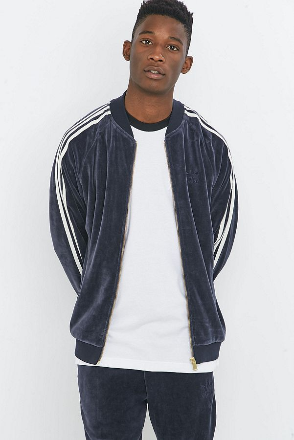 7e484a29c9d adidas Originals Superstar Velour Legend Ink Track Jacket   Urban ...