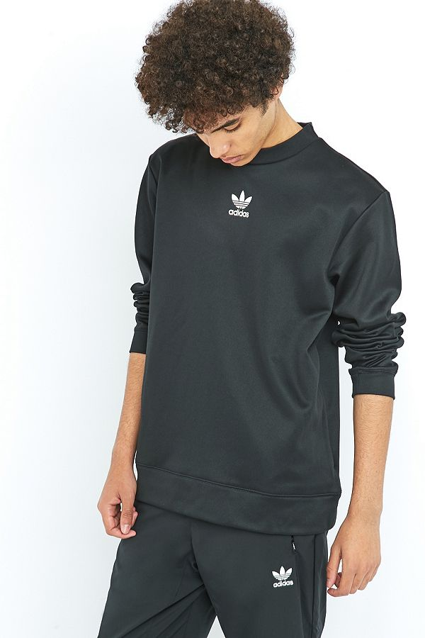 adidas The Brand with the 3 Stripes Black Crewneck Sweatshirt