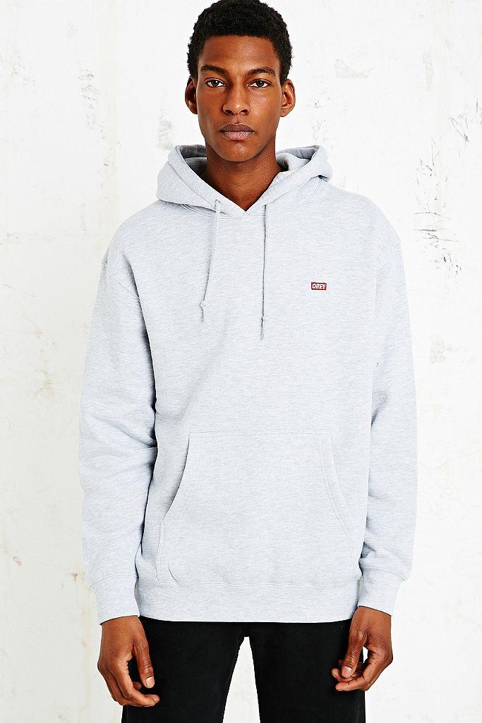 Obey Sweat à capuche gris avec logo rectangle | Urban