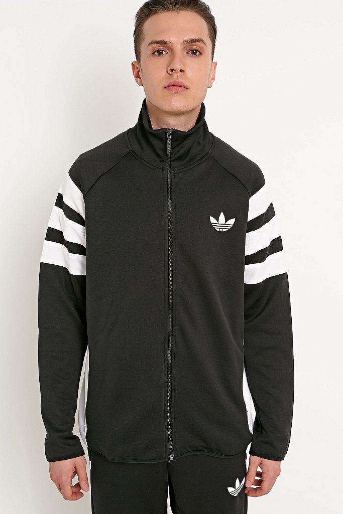 adidas Originals Trefoil FC Track Jacket in Black | Urban