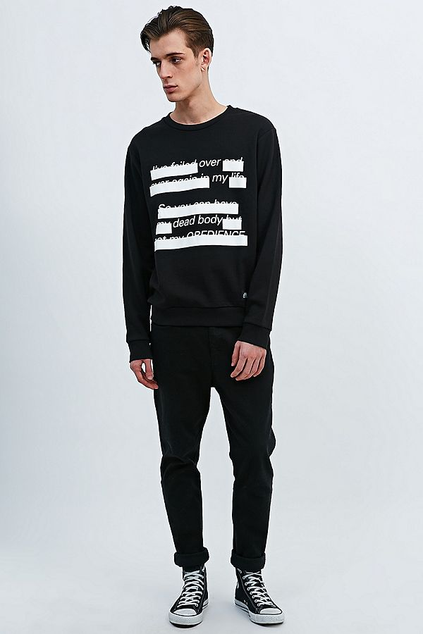 Cheap Monday Subtitles Sweatshirt in Black | Urban Outfitters UK