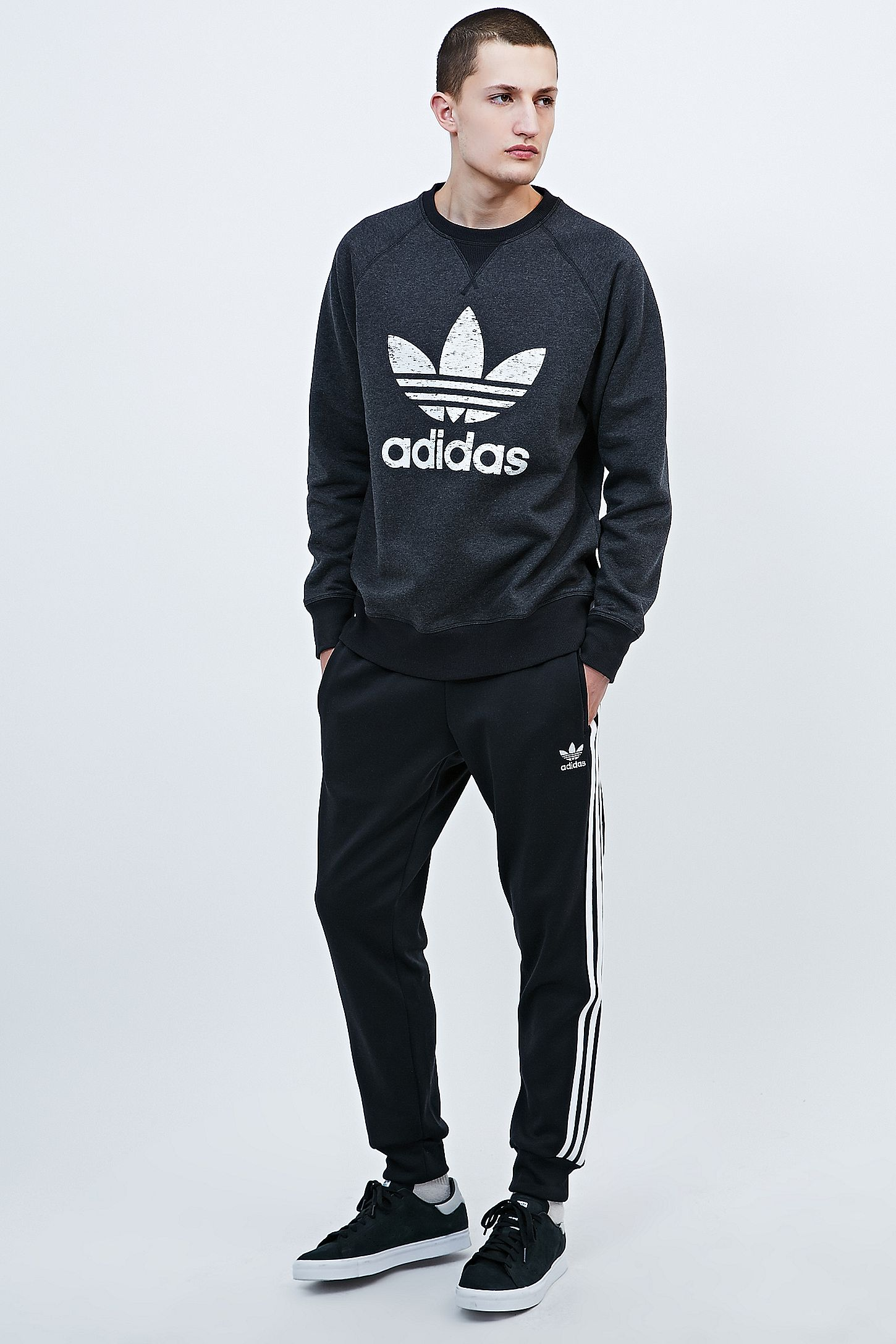 36ed36742309 adidas Superstar Joggers in Black