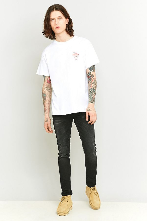 5e589487493bb Nudie Jeans Skinny Lin Black Waves Jeans