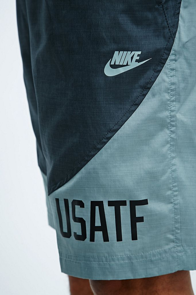 Nike USATF Tech Shorts in Grey   Urban Outfitters UK