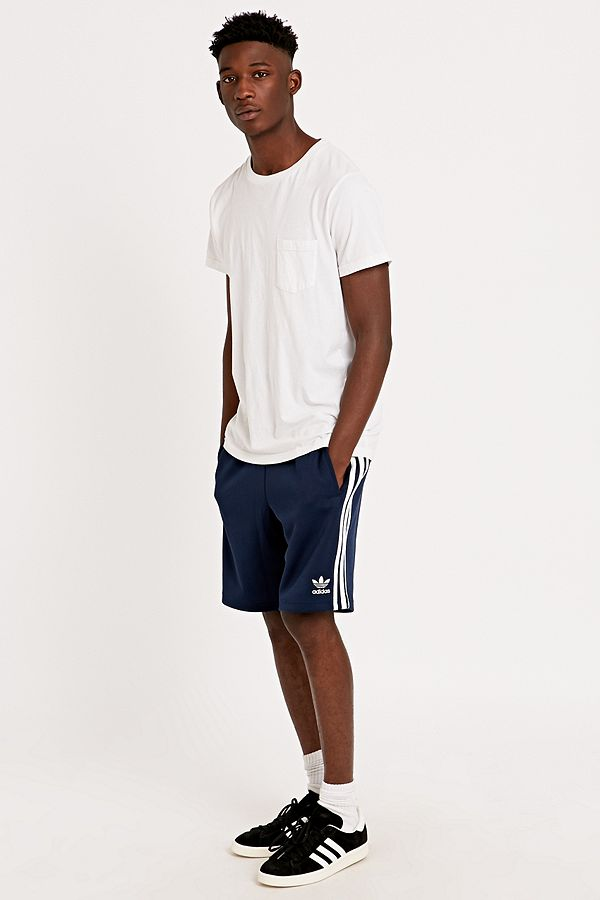 size 40 8d738 ed4b8 adidas Originals Superstar Shorts in Navy | Urban Outfitters UK