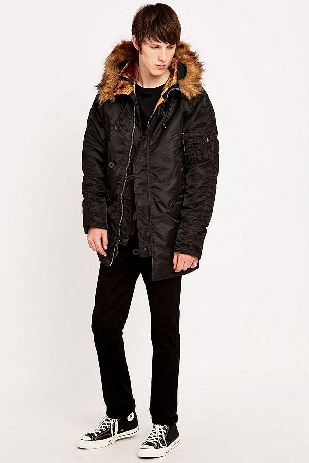 big sale 96016 eacec Alpha Industries N3B VF Black Jacket | Urban Outfitters UK