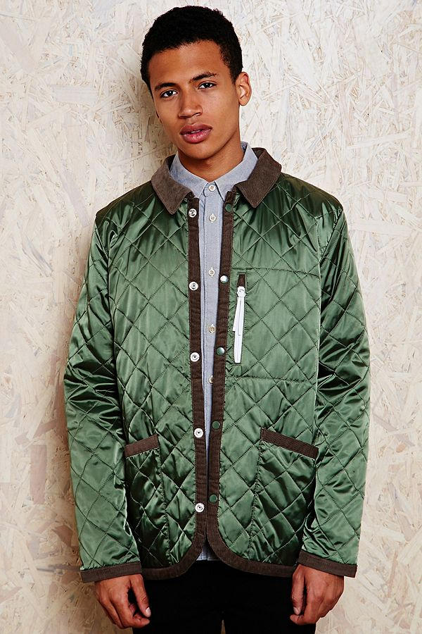 adidas Quilted Dog Keeper Jacket in Green   Urban Outfitters UK