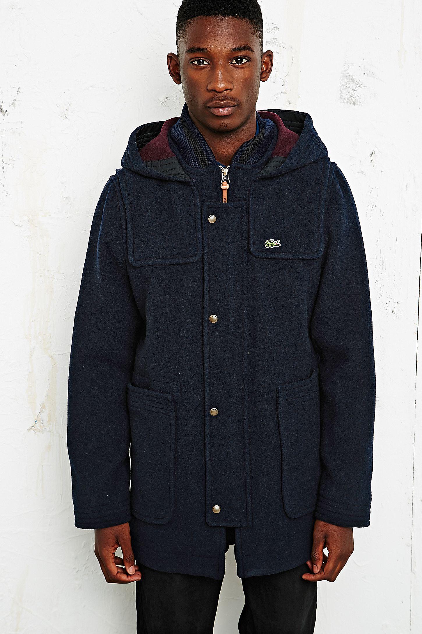 3444479b00d5 Lacoste Live Hooded Duffle Coat
