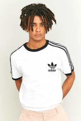 adidas 3 stripes white t shirt
