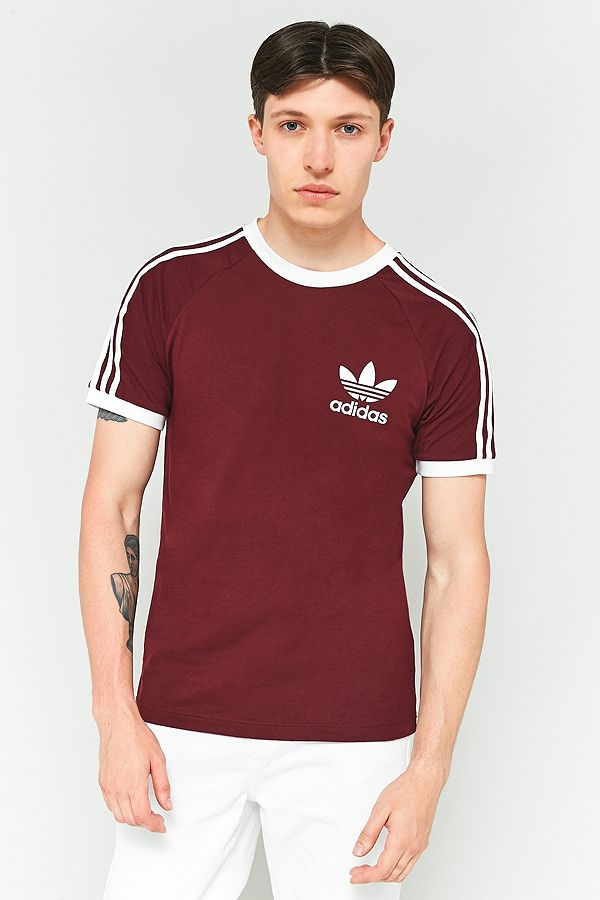 detailed look hot sale another chance adidas California Maroon T-shirt