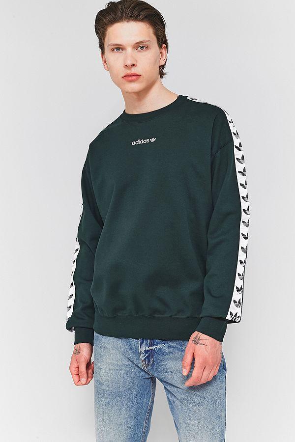 adidas TNT Green Night Taped Crewneck Sweatshirt