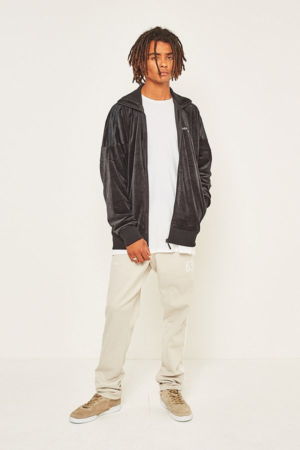 adidas Originals CLR84 Velour Track Top | Black | Track tops